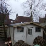 Blokhut nieuwe EPDM dakbedekkking en windveren